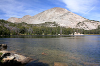 Upper Silas Lake, Mountain, Clouds