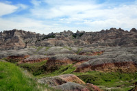 Colorful Mounds and Pinnacles